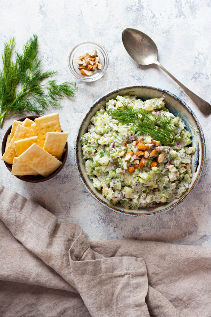 You can serve this summer potato salad with crackers.