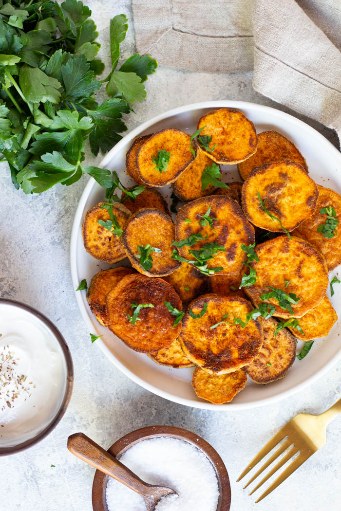 Spiced Roasted Sweet Potato Slices Easy Potato Recipes